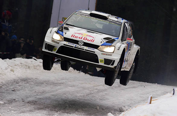 Jari-Matti Latvala got one up on Volkswagen team-mate Sebastien Ogier with victory at Rally Sweden