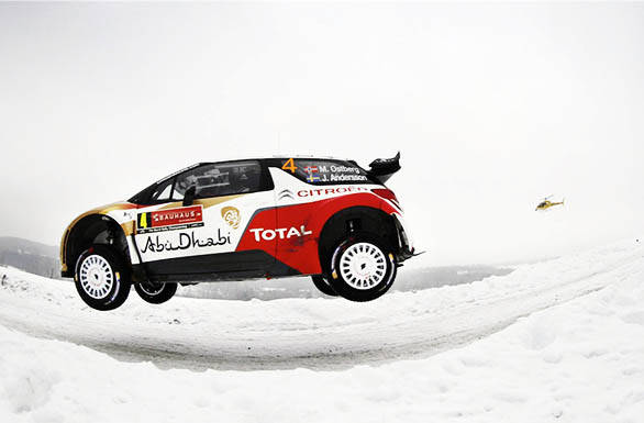 Citroen made it to the podium with third place from Mads Ostberg