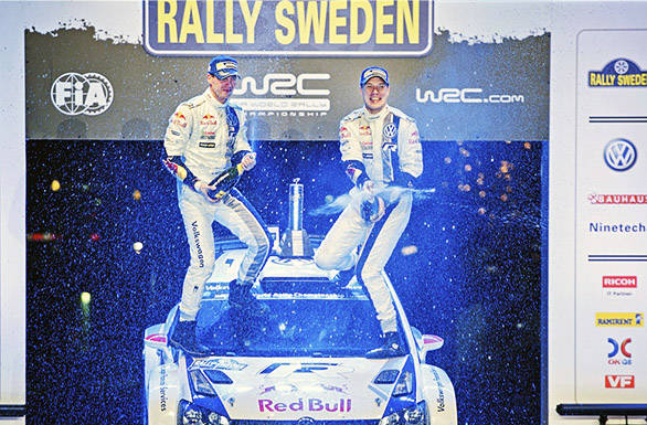 Victory at Sweden means Latvala now leads the WRC championship after two rounds