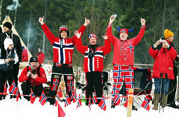 Fans at the Rally Sweden