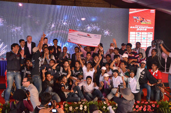 The Baja SAE India overall winners - Team GS Racers from Sri Govindram Siksaria Institute of Technology and Science
