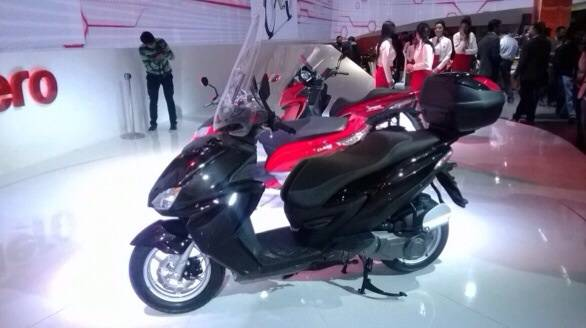 Hero MotoCorp unveils two more scooters at 2014 Auto Expo