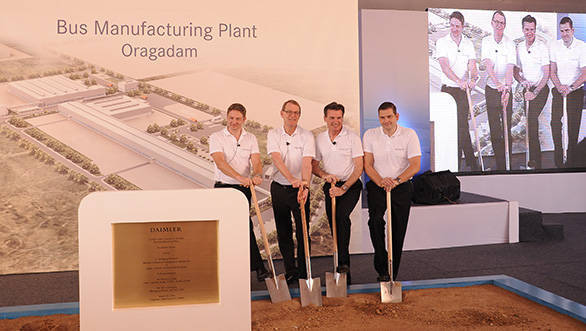 Daimler India Commercial Vehicles lays foundation stone for its new bus plant in Chennai