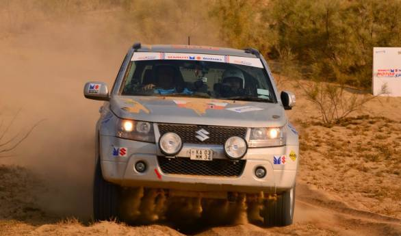 Satish Gopalakrishnan and Savera D'Souza piloted their Maruti Suzuki Grand Vitara to victory in the Ndure class of the 2014 Desert Storm