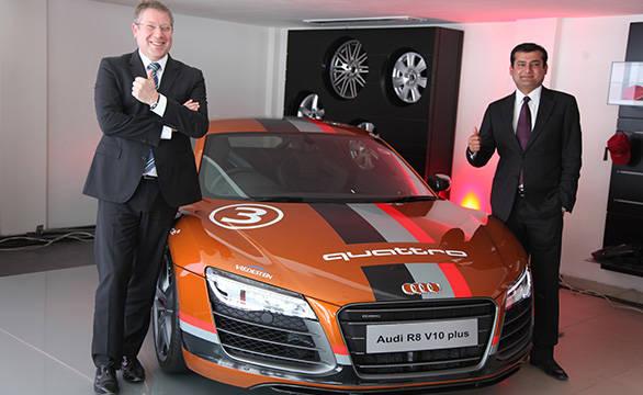 Joe King, head, Audi India and Aditya Kasliwal, managing irector, Audi Udaipur
