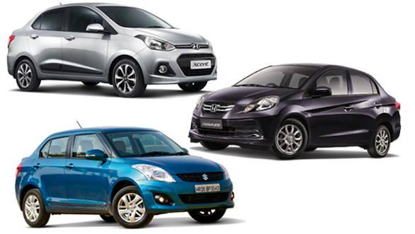 Spec Comparo: Hyundai Xcent vs Honda Amaze vs Maruti Swift Dzire