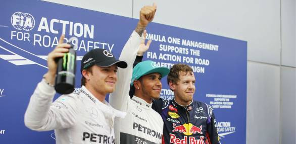 F1 2014: Hamilton on pole at Sepang