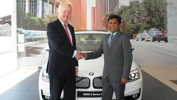04 Mr. Philipp von Sahr President BMW Group India and Mr. Puneet Sanghi Managing Director, Sanghi Classic at the launch of Sanghi Classic Udaipur