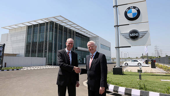 Philipp von Sahr and Joachim Geisller from BMW India inaugurating the new training centre in Gurgaon