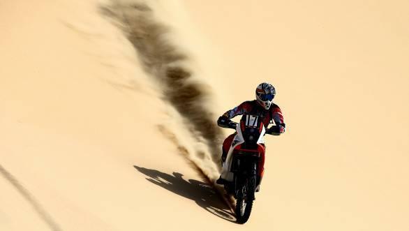 Santosh astride his KTM Rally Replica