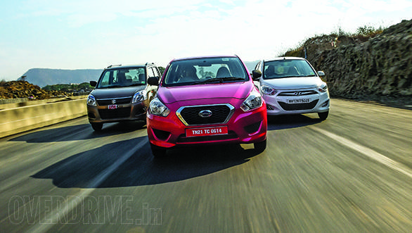 Datsun Go vs Maruti WagonR vs Hyundai i10 in India