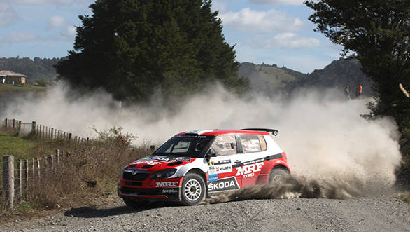 Jan Kopecky leads Gaurav Gill at APRC Rally of Whangarei