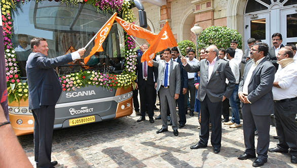 L to R Mr.Anders Grundströmer, Managing Director, Scania CV India Pvt Lt...