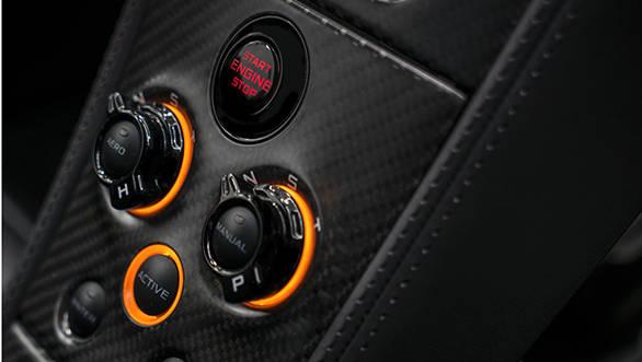 Mclaren MSO 650S concept coupe centre console