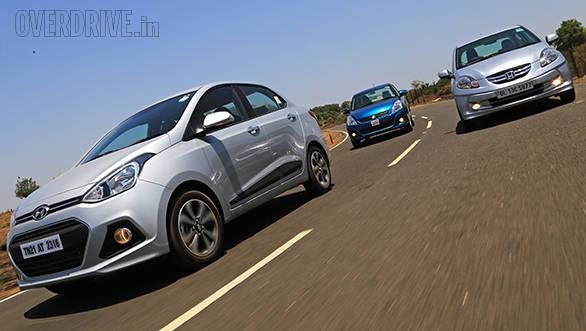 Hyundai Xcent vs Maruti Dzire vs Honda Amaze