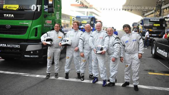 A merry bunch this lot - but it gets competitive out on track, off-track bonhomie aside