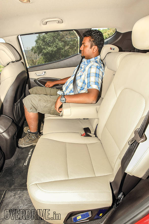 Rear seat space is capacious