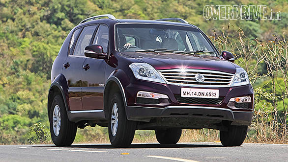 Body roll in the Rexton is on the higher side