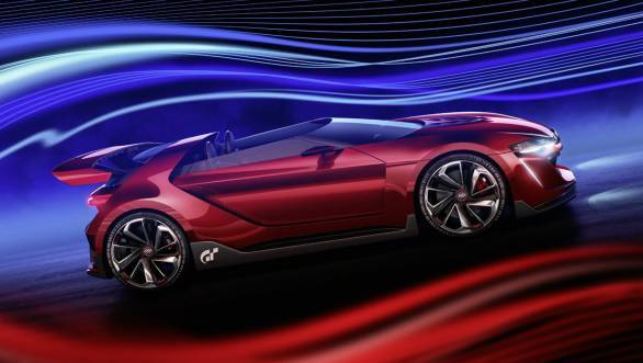 The aerodynamic design helps the GTI Roadster concept to power from 0-60 mph in 3.5 seconds