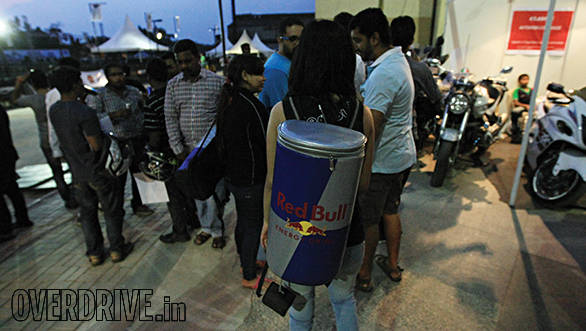 Red Bull was close at hand keeping the energy levels high