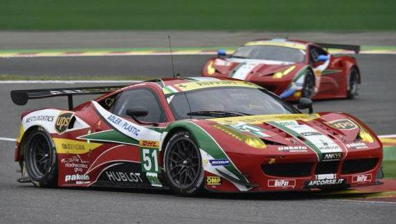 The AF Corse Ferrari ruled from start to finish. Gianmaria Bruni and Toni Vilander started from pole position.