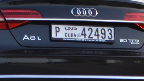 Audi A8 badging