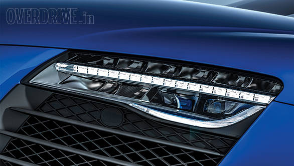 Audi is the first manufacturer to offer laser headlamps as standard on the limited run R8 LMX