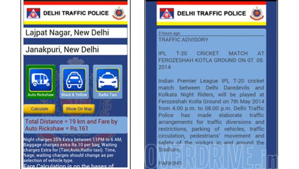 Delhi Traffic Police Mobile App