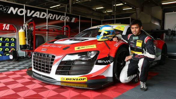 Aditya Patel is driving an Audi R8 LMS for Team Novadriver in the International GT Open Series 2014