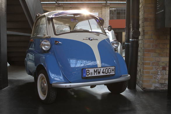 The Isetta 300 by BMW is just one of the eyecatching displays at the Classic Remise