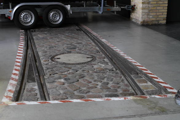 Tram tracks a reminder of what this museum once used to be