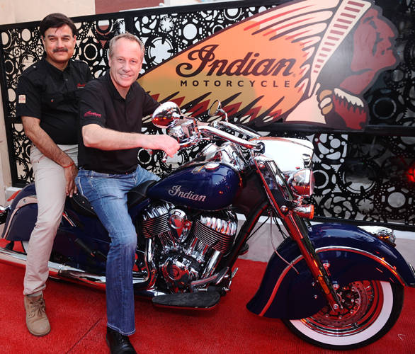 Indian Motorcycle Inauguration - (L to R) Mr Pankaj Dubey MD Polaris India Pvt and Mr Bennett Morgan - COO - Polaris Industries Inc