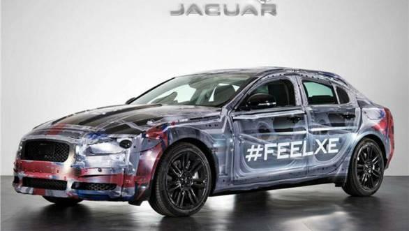 Jaguar XE prototype shown on Twitter