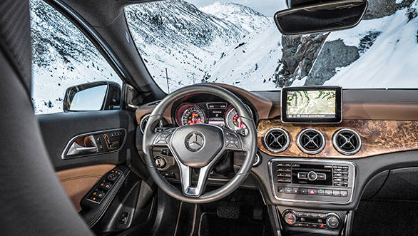 Similar interiors to the A and B-Class but  looks good with this wood trim