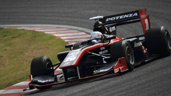 Narain Karthikeyan could do no better than sixth place at the second round of Super Formula Japan at Fuji