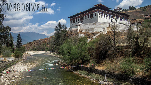 Rinpung Dzong is the largest fortress monastery in Bhutan