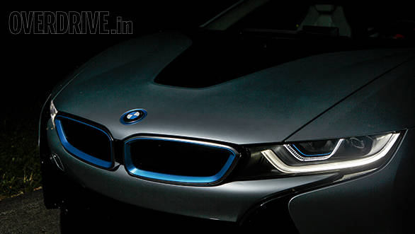 The BMW i8 hybrid sports car offers laser headlamps as option