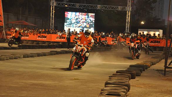 Riders riding at the 4th KTM Orange Day at Imax, Wadala on 3rd May at 6pm (1)