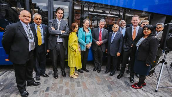 Ashok Leyland's subsidiary Optare launched their new bus  MetroDecker in London