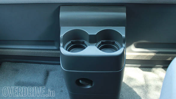 The rear also gets cup-holders