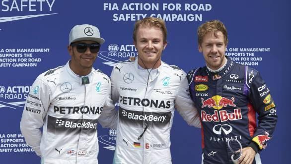 Hamilton Rosberg Vettel Canadian GP F1