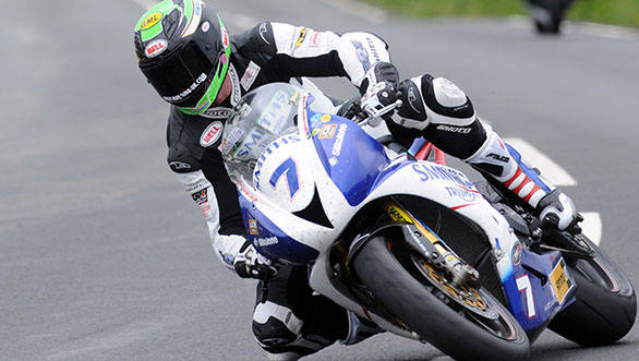 Gary Johnson took his Triumph Daytona 675 to victory in the first Supersport race