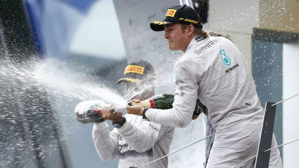 Rosberg now leads the championship by 29 points from Hamilton