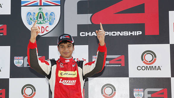 British Formula 4: Arjun Maini takes maiden win at Snetterton
