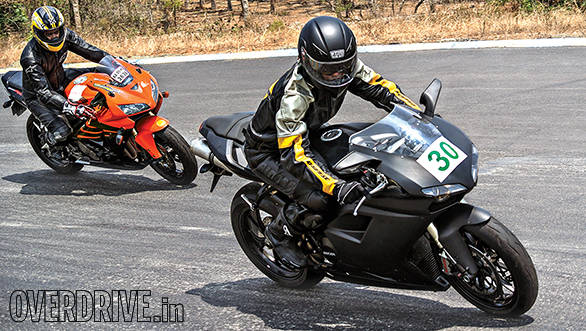 TWO Track riding school session at Kari Motor Speedway