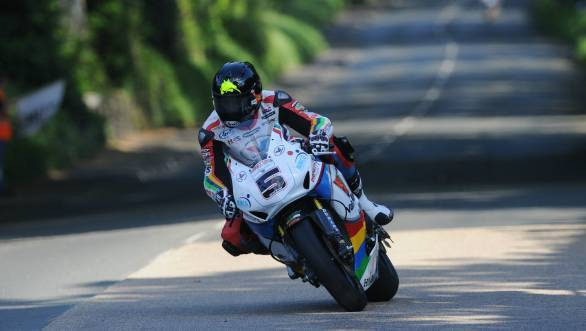 Lap record shattered. All in a day's work for Bruce Anstey.