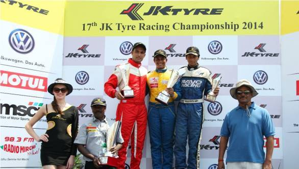 Diljith TS and Sudarshan Rao finished first and second in all three F4 races, with Ameya Bafna third in Race 2