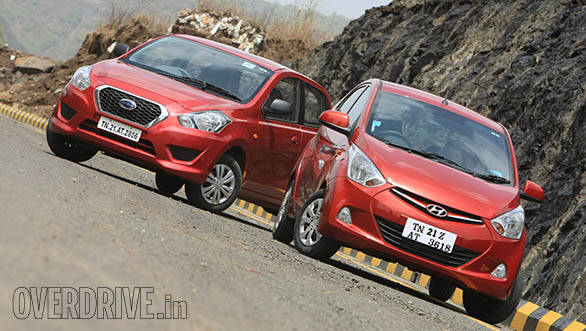 Hyundai Eon 1.0 vs Datsun Go in India