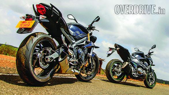 Kawasaki Z800 vs Triumph Street Triple (1)