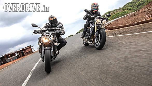 Kawasaki Z800 vs Triumph Street Triple (2)